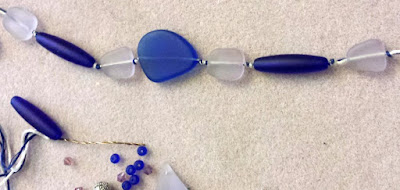 Beach blog hop: seaglass, wire wrapping, ooak jewelry, 3-in-1 necklace :: All Pretty Things
