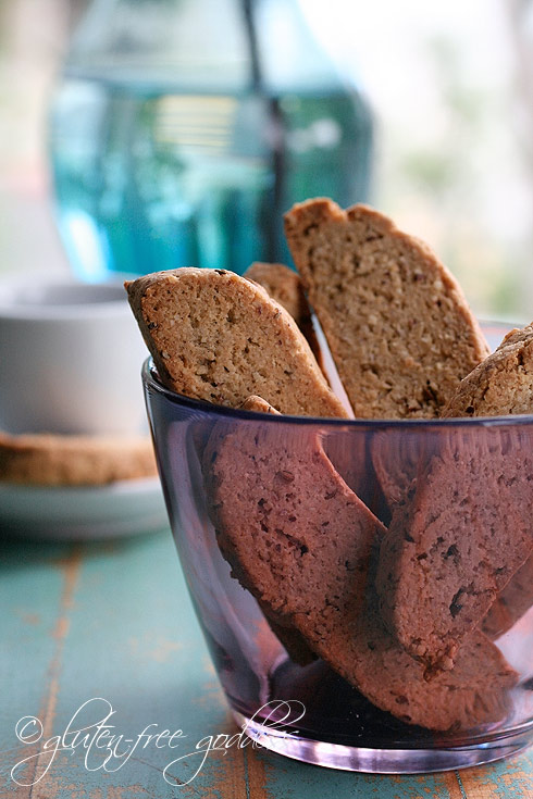 Vegan and gluten free biscotti