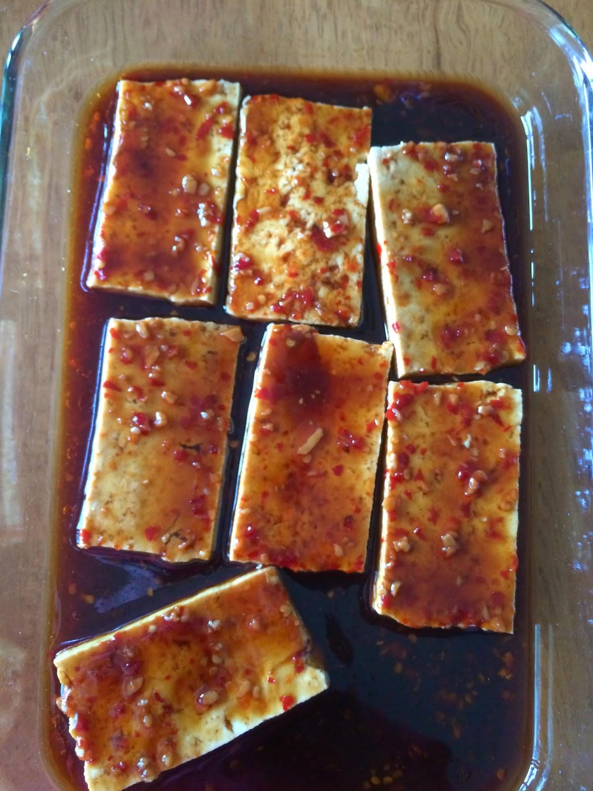 Tracy's Living Cookbook: Sriracha Sesame Grilled Tofu