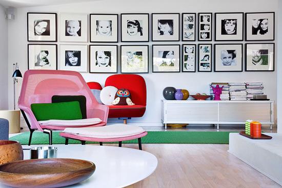 Pareti Con Foto In Bianco E Nero : Decorare con le cornici incorniciamoci architettura e design