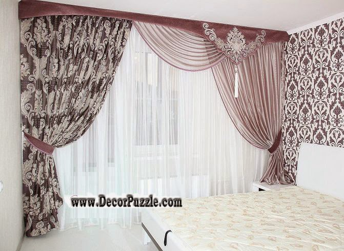 Charmant French Country Curtains For Bedroom 2018 Purple Curtain Designs 2018
