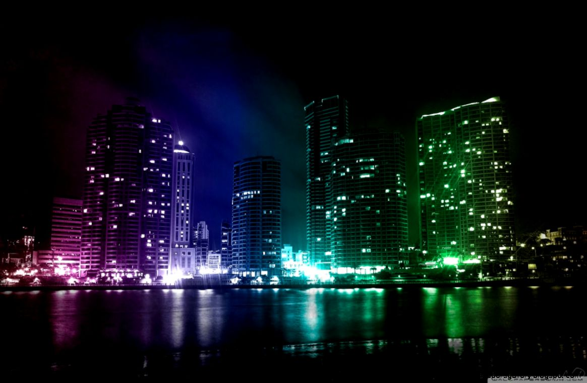 City Lights HD desktop wallpaper  Widescreen  High Definition