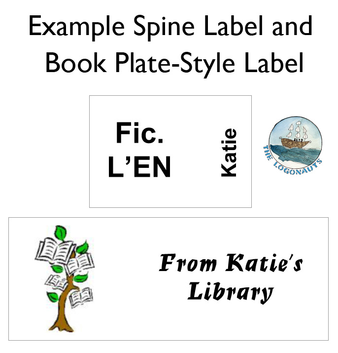 Example Spine Label and Book Plate Label - Labeling and Tracking a Classroom Library | The Logonauts