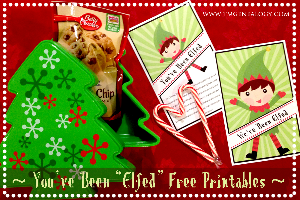 image relating to You've Been Elfed Free Printable called Youve Been \