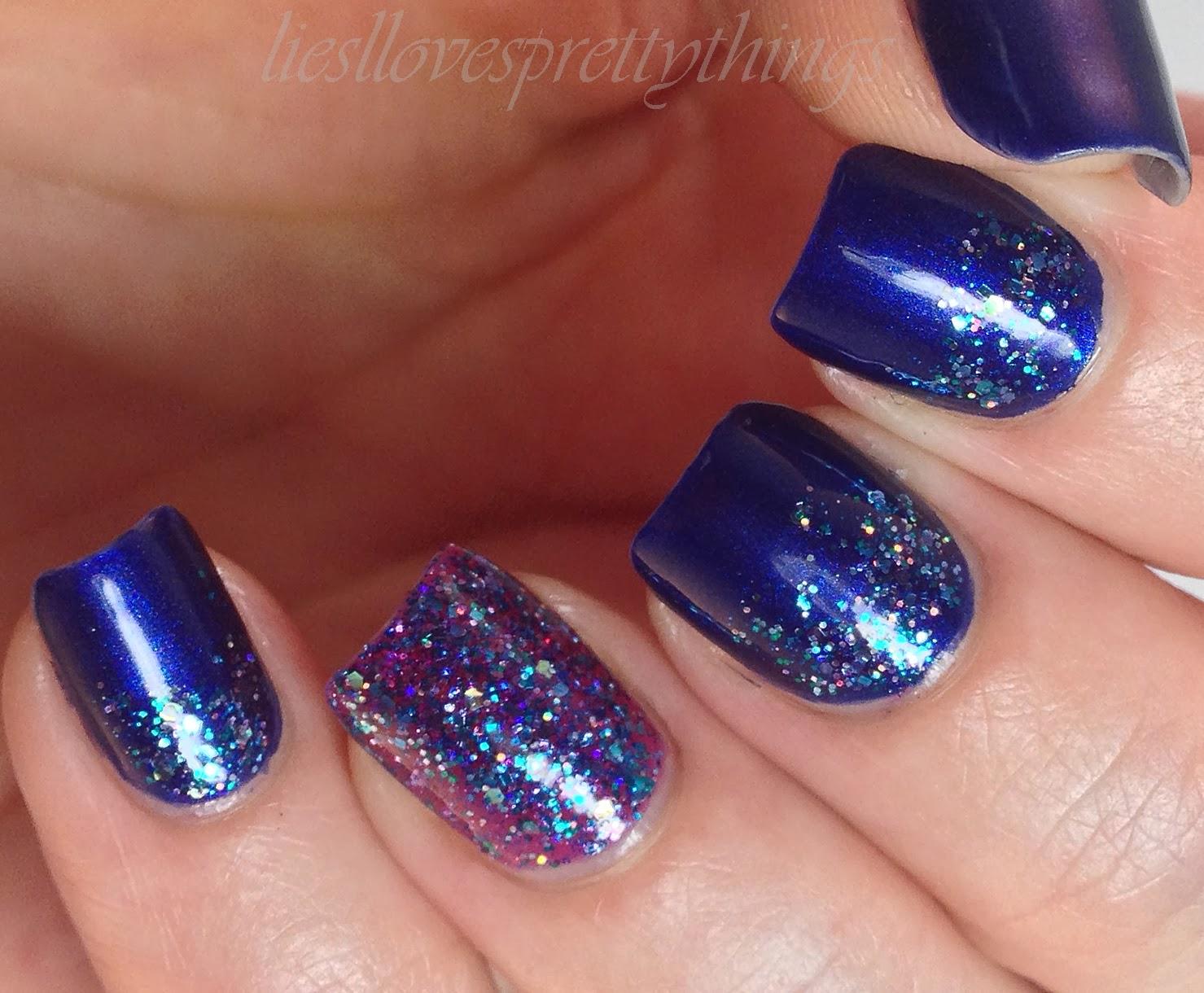 Shimmer Cleo nail art