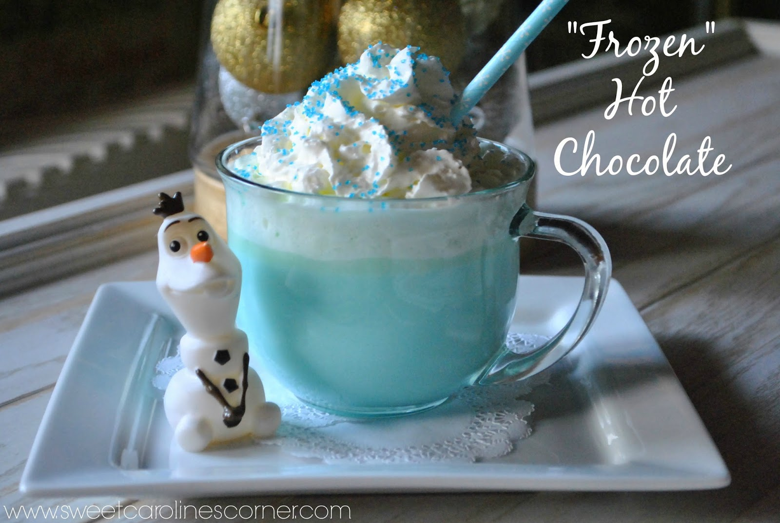 "Sweet Carolines Corner""Frozen"" Hot Chocolate (Chocolate Quente"