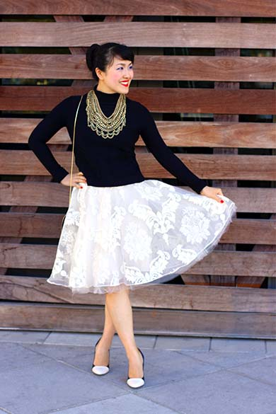 Spread Tulle Skirt