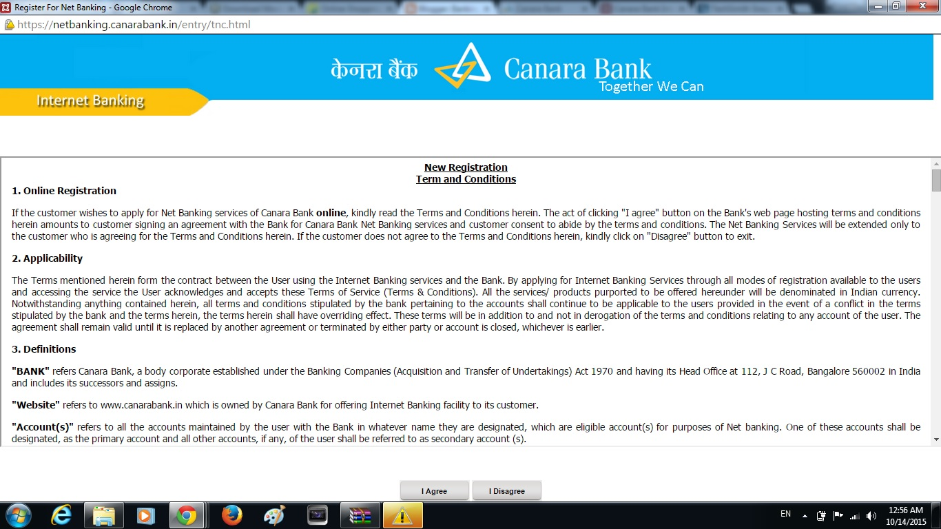 Banking with Banks of India: CANARA BANK NET BANKING : First Time ...