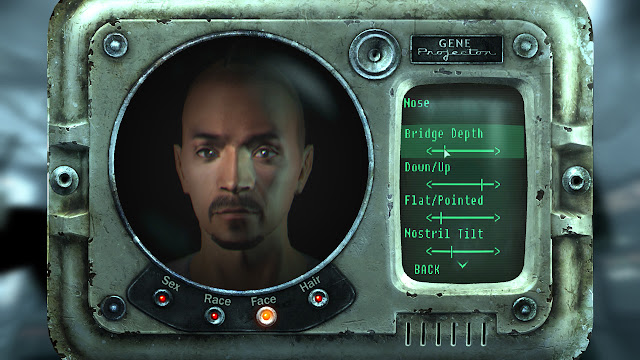 Fallout 3 face editor screen