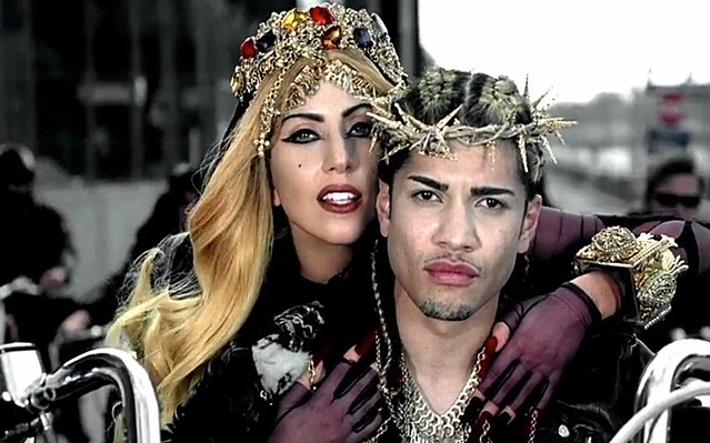 lady gaga judas video jesus actor. Gaga#39;s as a swaggering Mary