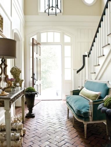Elegant Foyer Entrances : Lamb blonde elegant entryways