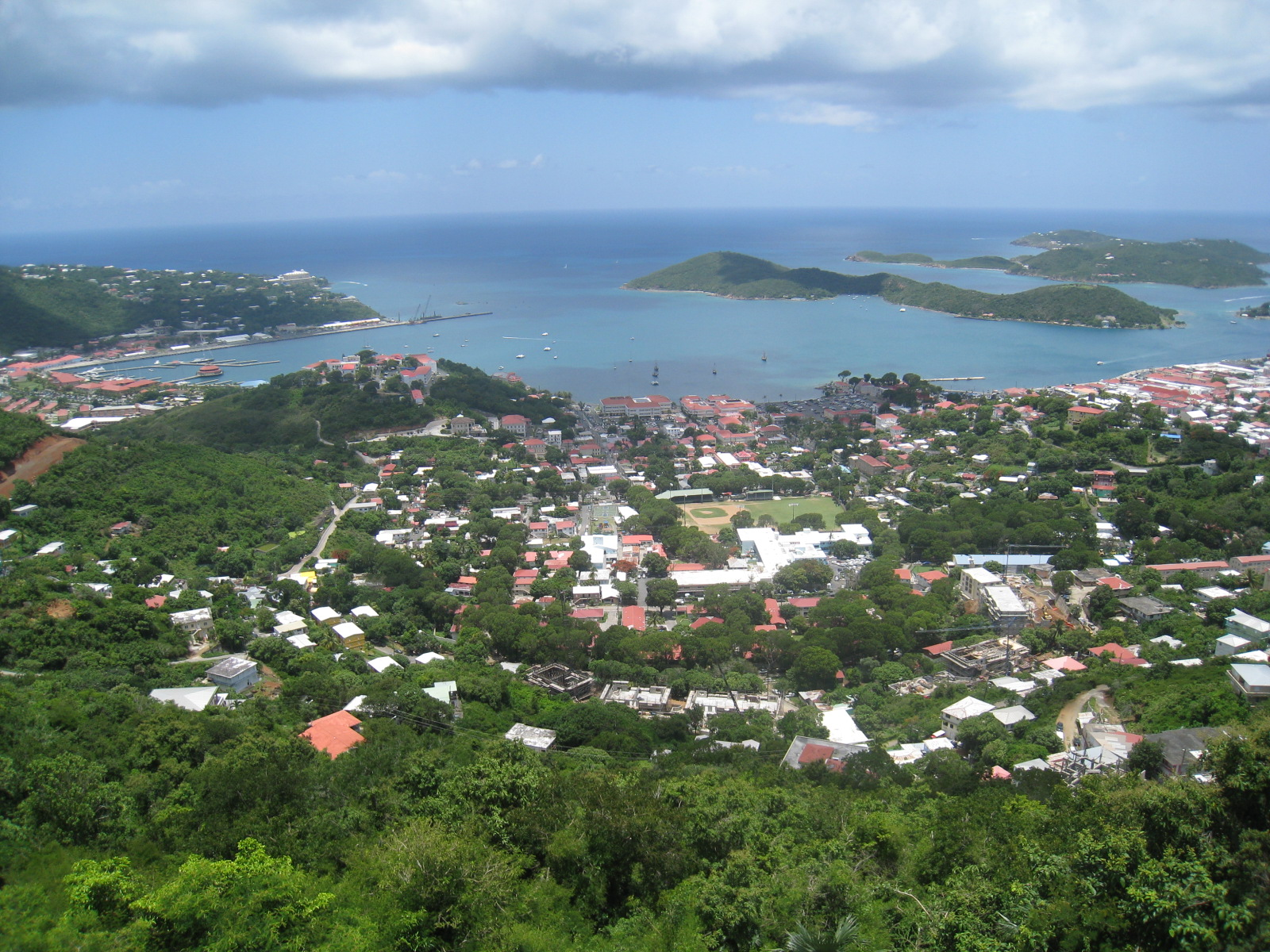 View of the US Virgin Islands