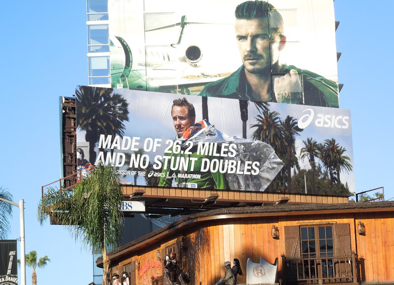 Asics LA Marathon billboard Sunset Strip