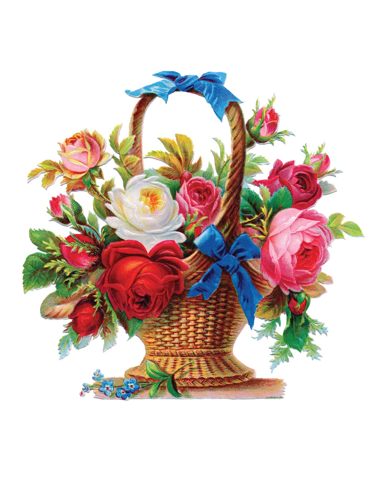 Images Of Flower Baskets : Take your picture free vintage image victorian basket