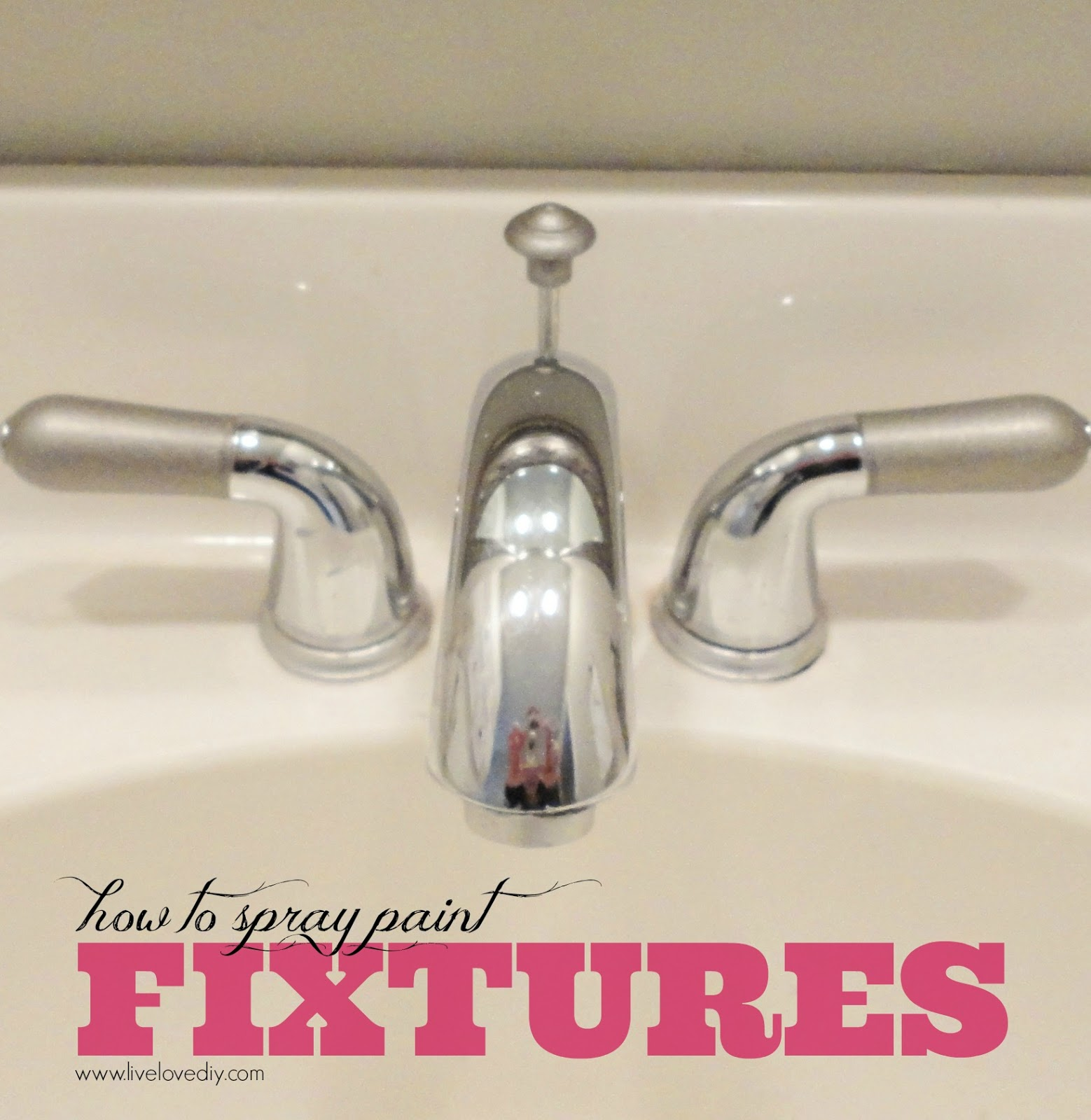 LiveLoveDIY Spray Paint Tips What You Never Knew About Spray Paint - Refinishing brass bathroom fixtures