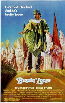 Richard Pryor on poster for movie Bustin Loose