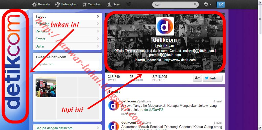 Cara Mengganti Background Profil Twitter Atau Twitter Header Image