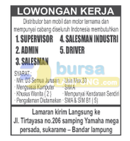 LOKER Admin, Supervisor, Driver & Sales