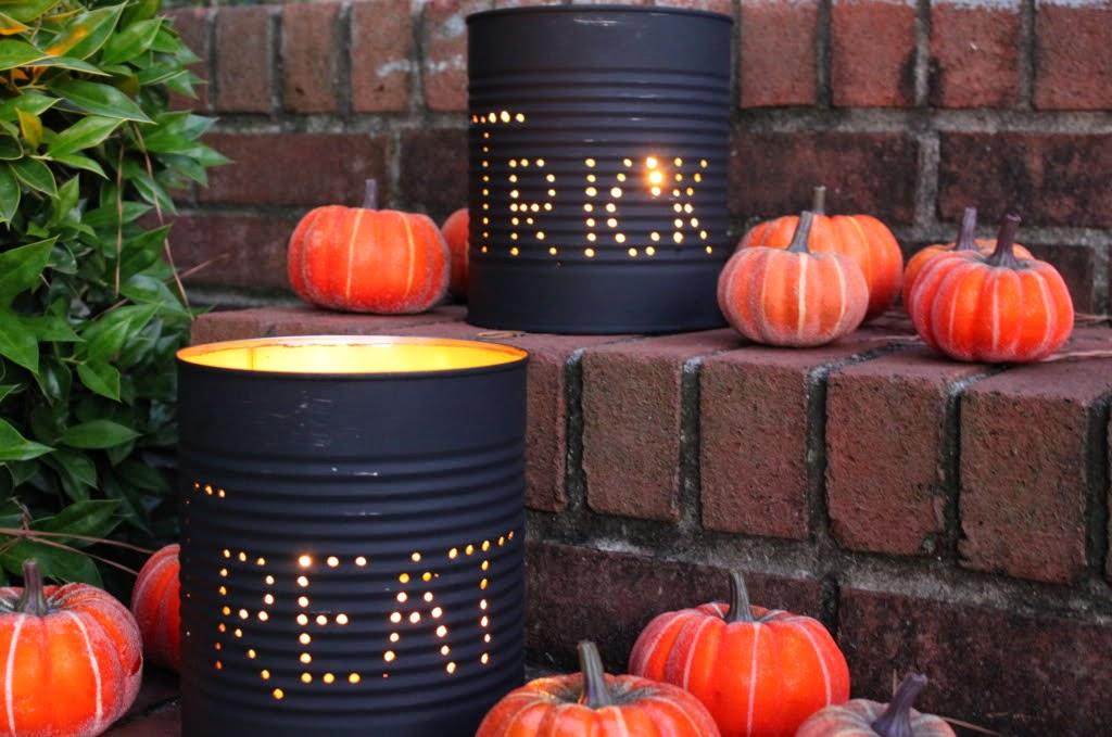 DIY Halloween Tin Can Luminaries Loverbugs Mommy