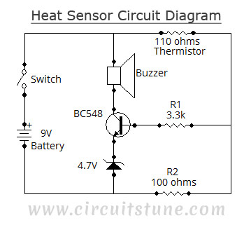 Heat Sensor Circuit Diagram | CircuitsTune