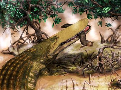 reptiles del cretaceo Aegisuchus