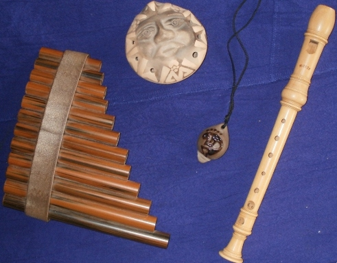 Panpipes, Ocarinas, Recorder