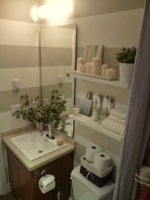 Pabla en casa 35 ba os peque os y funcionales for Small bathroom ideas 2012