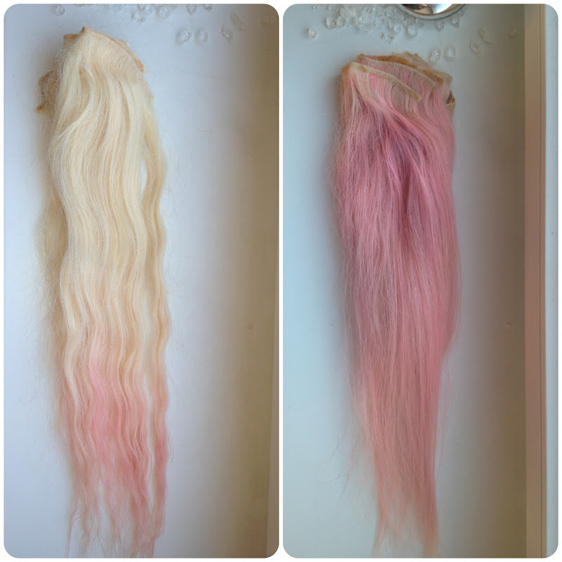 Diy Blonde To Pink Ombre Hair Saline Simon