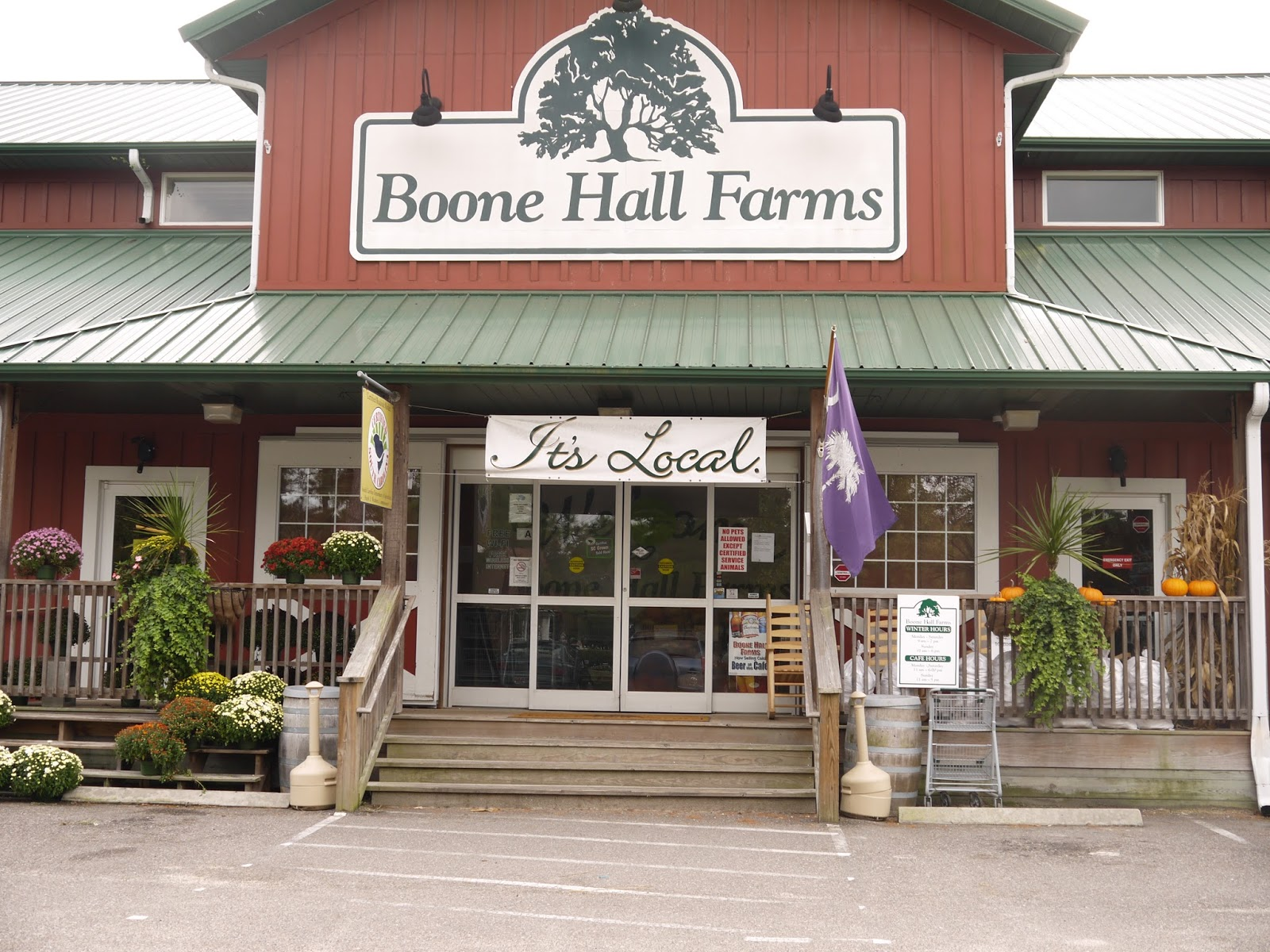 Boone Hall Cafe Menu