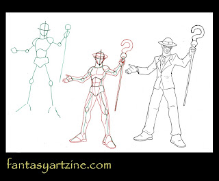 Online art classes drawing the Riddler