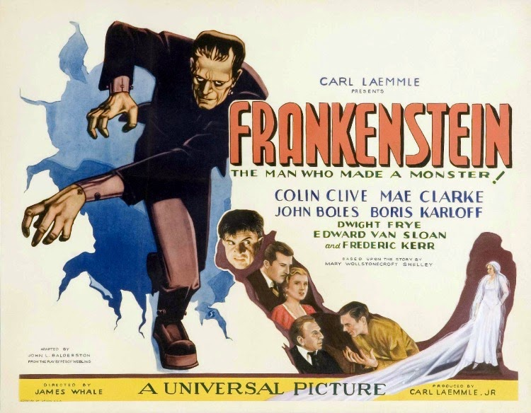 A Vintage Nerd, Classic Film Blog, Old Hollywood Blog, Classic Monster Movies, Frankenstein