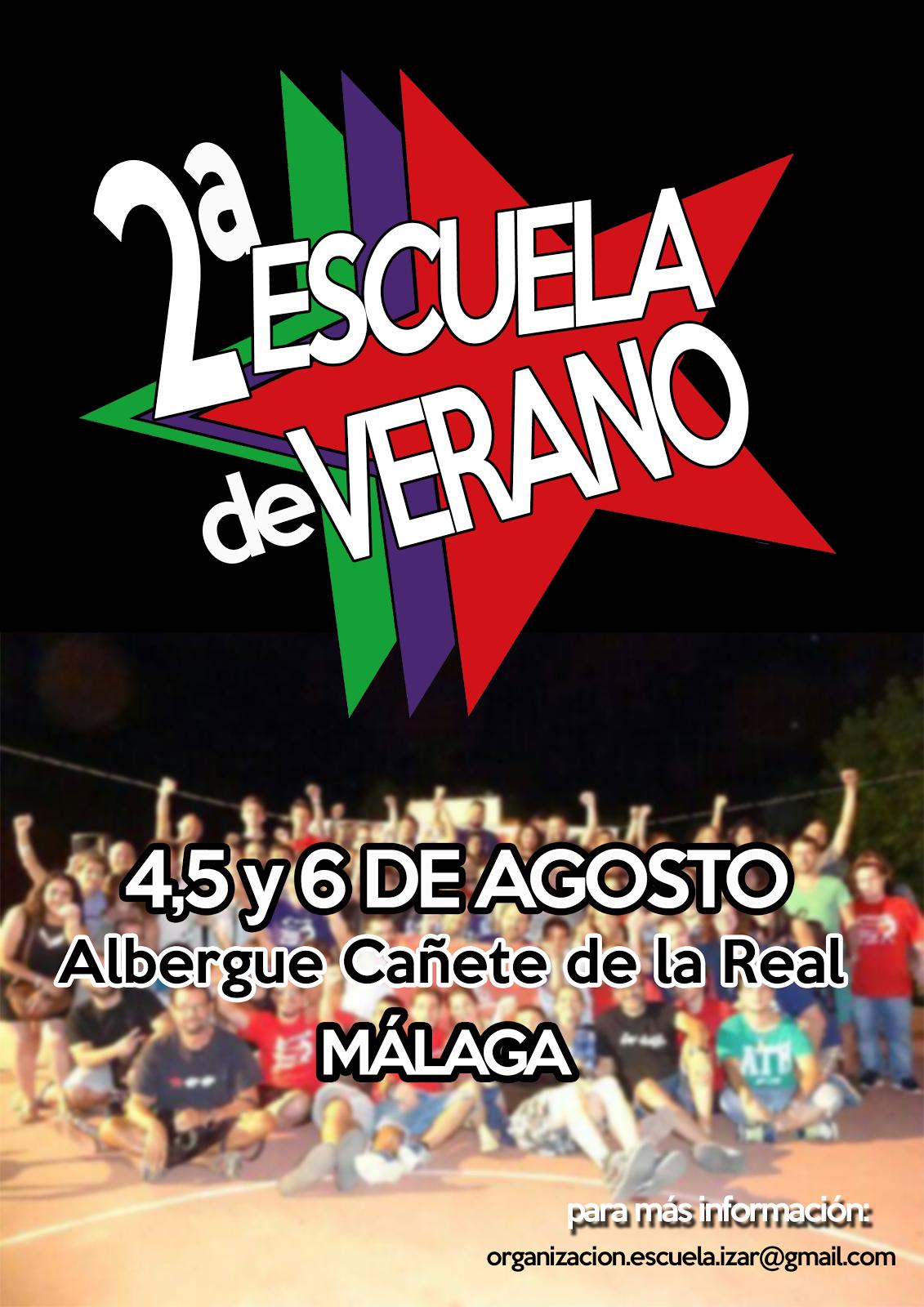 2ª Escuela de verano de IZAR (4,5 y 6 de agosto en Cañete la Real, Málaga)
