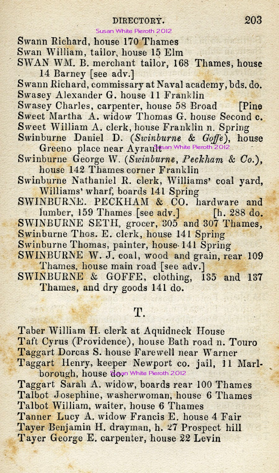 When i was 69 more on newport and my ancestors part ii newport ri business directory 1863 aiddatafo Gallery