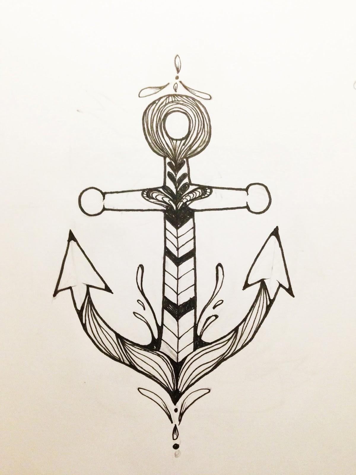 soniaviento dise o de ancla para tattoo