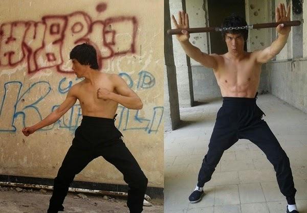 Abbas Alizada doing kung fu