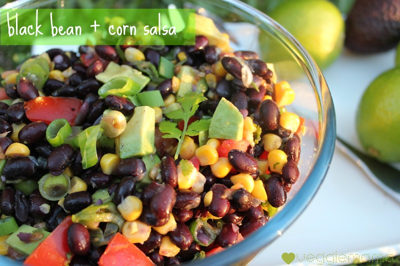 Meatless Monday - black bean and corn salsa with lime and avocado - v ...