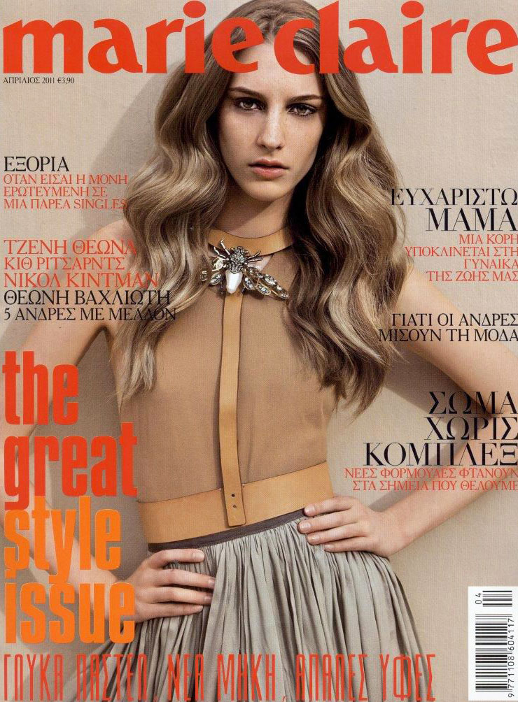via fashioned by love | Rosanna Georgiou in Marie Claire Greece April 2011 (photography: George Katsanakis)