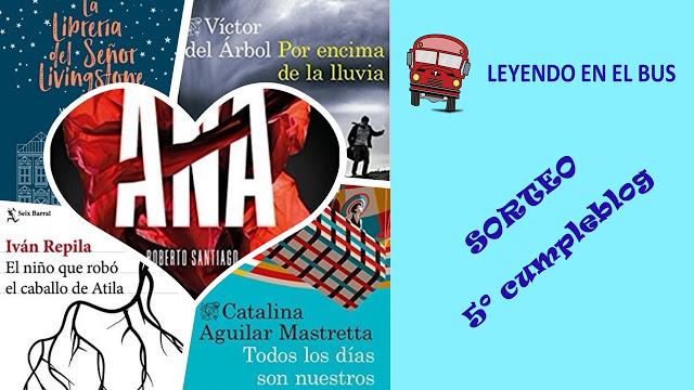 Sorteo 5º cumpleblog de Leyendo en el bus