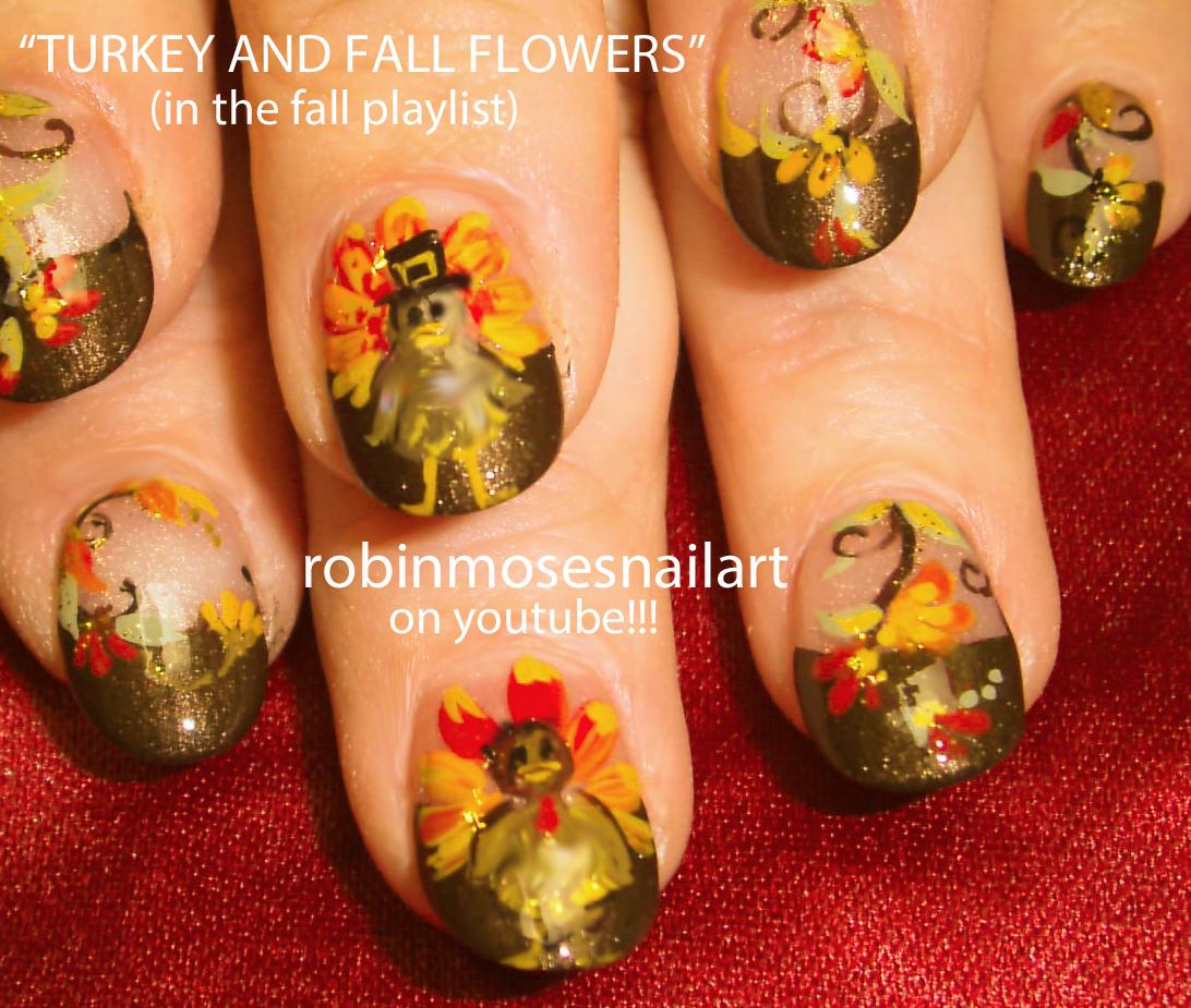 Nail Art Design: Thanksgiving nail art, Turkey nail art ...