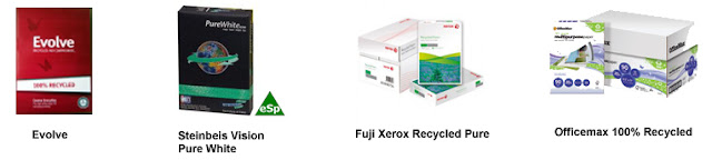 recommended recycled papers