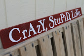 """Crazy, Stupid, Love"" Pallet Wood Sign"