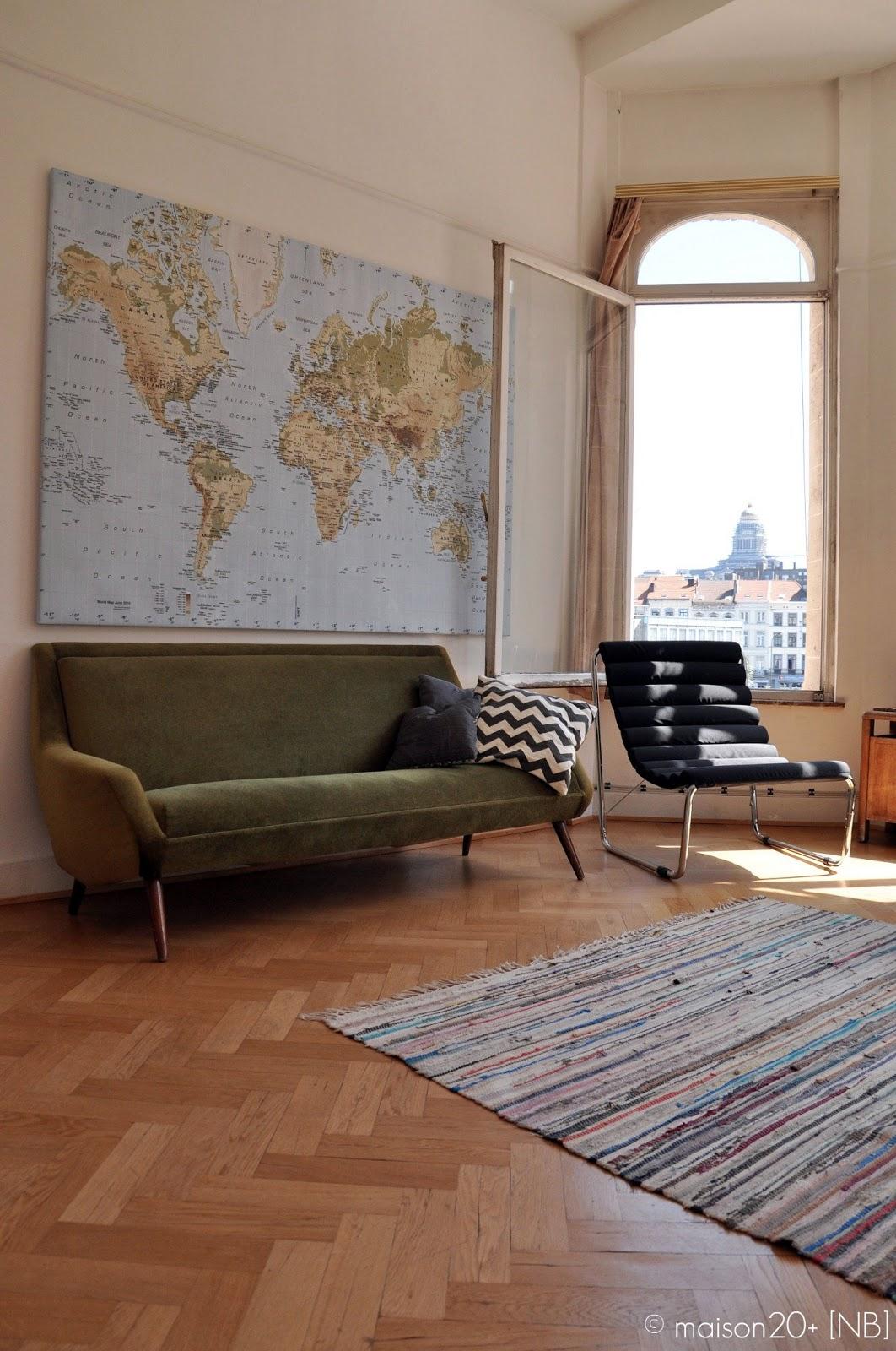 Binnenkijken een zonnig vintage appartement in brussel