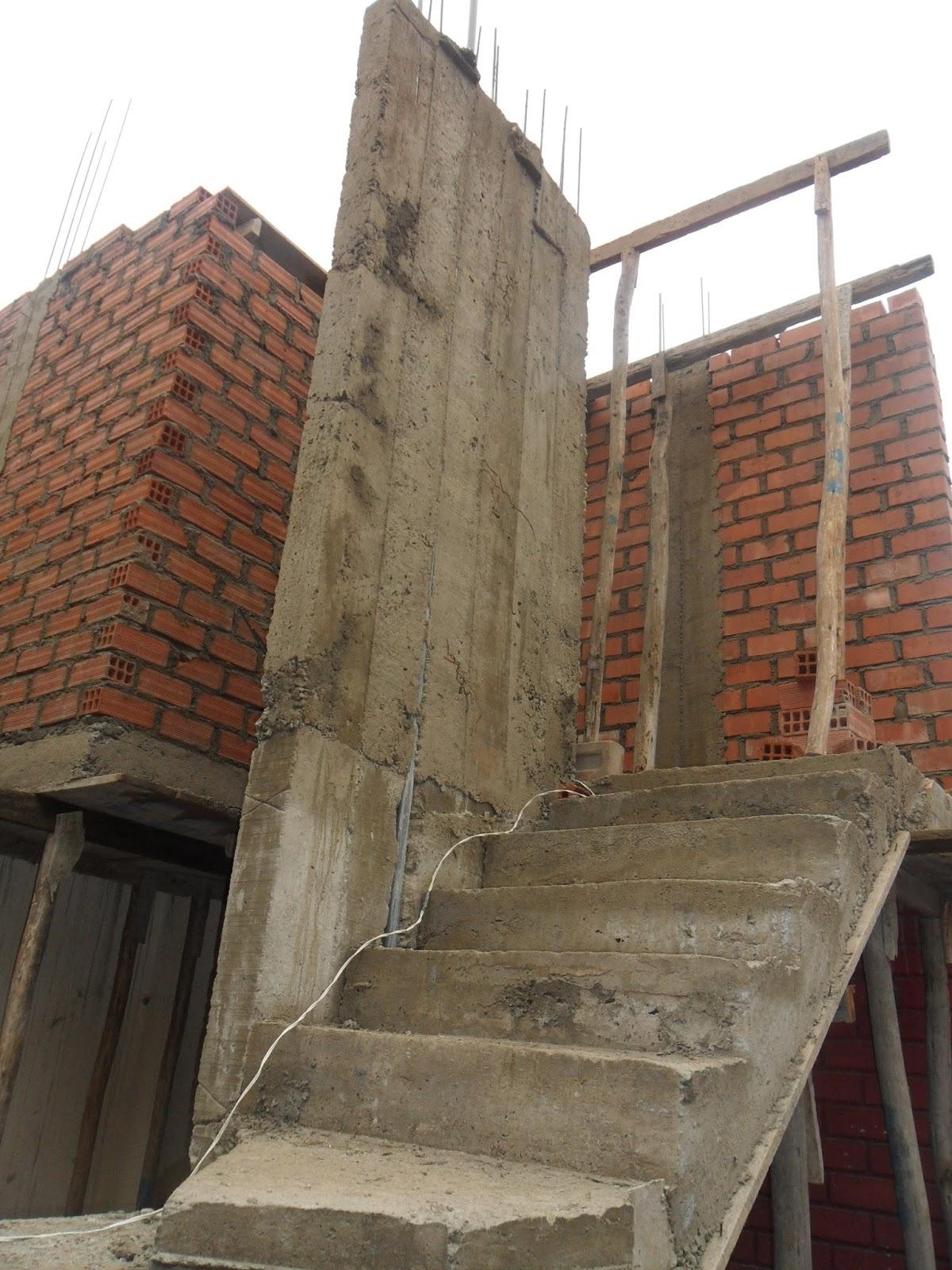 Cristian campos obra en proceso escaleras y ampliaci n - Escalera exterior para segundo piso ...