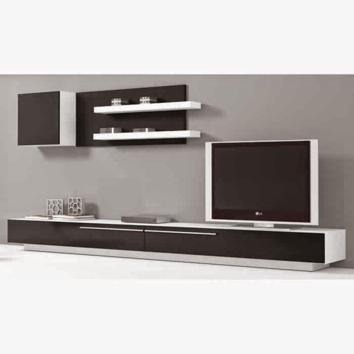 meuble television mural maison design. Black Bedroom Furniture Sets. Home Design Ideas