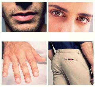Anggota tubuh lelaki, body parts, mata, bibir, pantat, bokong, jari, tangan