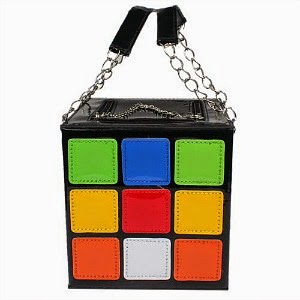 Rubik's Cube Handbag close-up