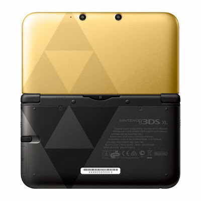 Legend of Zelda Gold Triforce 3DS XL