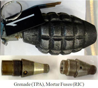 Grenade and warheads.