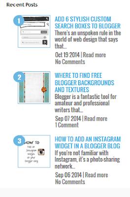 recent post widget for blogger 2