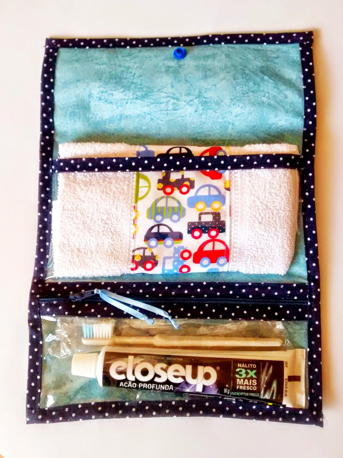 Kit higiene bucal estampa de carrinho @ateliemadrica